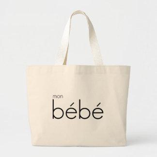 mon bébé | Jumbo Tote, White Large Tote Bag