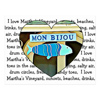 Mon Bijou Martha's Vineyard Post Card