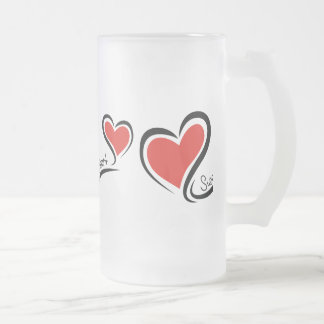 Mon chéri Valentine Frosted Glass Beer Mug