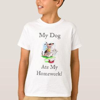 Mon chien, a mangé mon T-shirt de travail