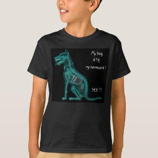 Mon chien A MANGÉ mon T-shirt de travail