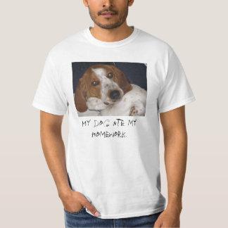 Mon chien a mangé mon travail t shirts