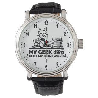 Mon chien de geek fait mon travail montres bracelet