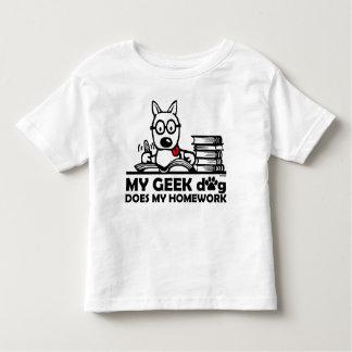 Mon chien de geek fait mon travail t-shirt