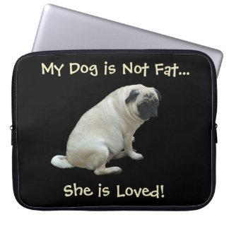 Mon chien n'est pas gros… elle est sac aimé d'ordi housse ordinateur portable
