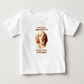 Mon Coeur Appartient A Un Basset Fauve de Bretagne Baby T-Shirt