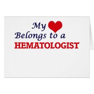 Mon coeur appartient à un hématologue carte de vœux