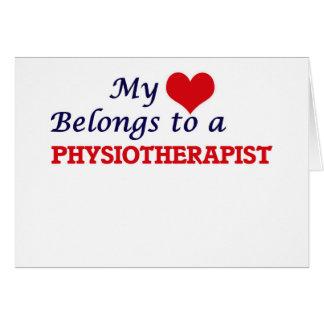 Mon coeur appartient à un physiothérapeute carte de vœux