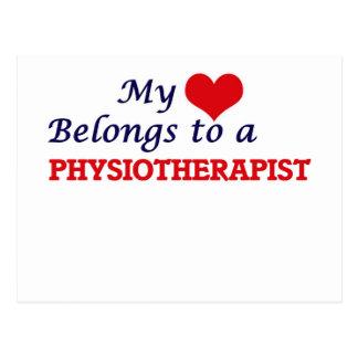 Mon coeur appartient à un physiothérapeute cartes postales