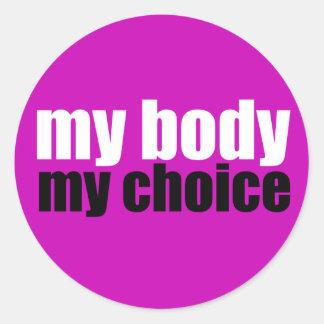 Mon corps mon choix adhésif
