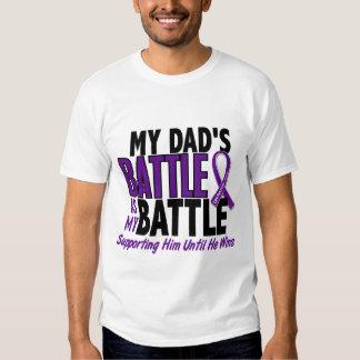 Mon de bataille Cancer pancréatique de papa trop Tee Shirts