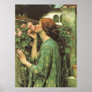 Mon doux s est levé âme du rose par le château posters