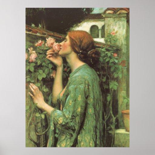 Mon doux s'est levé (âme du rose) par le château posters