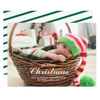 Mon ęr carte photo de vacances de premier bébé de
