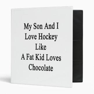 Mon fils et moi aiment l'hockey comme un gros classeur 3 anneaux