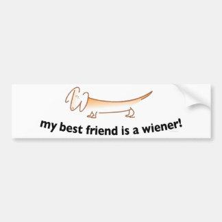 Mon meilleur ami est une saucisse….(Teckel) Autocollant De Voiture