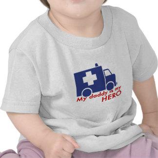 Mon papa est mon héros t-shirts