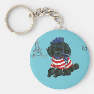 Mon Petit Chou Chou Black Poodle Puppy Keychain