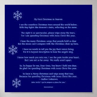 Mon premier Noël dans le ciel Posters