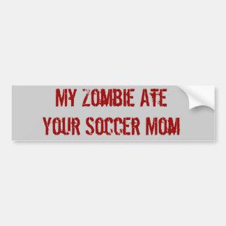 Mon zombi a mangé votre maman du football autocollants pour voiture
