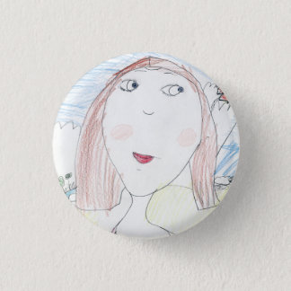 Mona Lisa 1 Inch Round Button