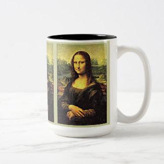 Mona LIsa (1) Two-Tone Coffee Mug