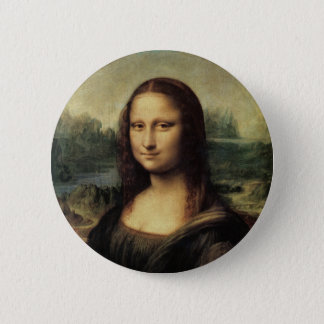 Mona Lisa 2 Inch Round Button