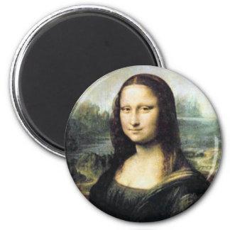 Mona Lisa 2 Inch Round Magnet