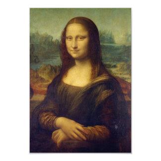 "Mona Lisa 3.5"" X 5"" Invitation Card"