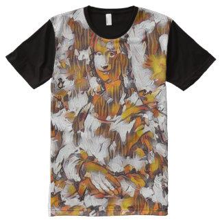 Mona Lisa Abstract Portrait All-Over-Print T-Shirt