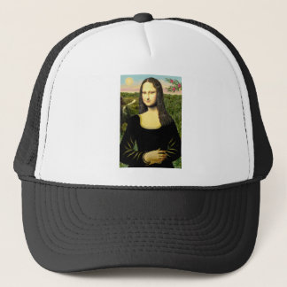 Mona Lisa - Add a pet Trucker Hat