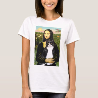 Mona Lisa - Am SH black and white cat T-Shirt