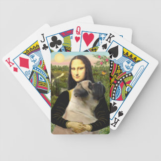 Mona Lisa and Bull Mastiff Bicycle Playing Cards