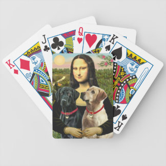 Mona Lisa and her Black Lab & Yellow Lab Bicycle Playing Cards