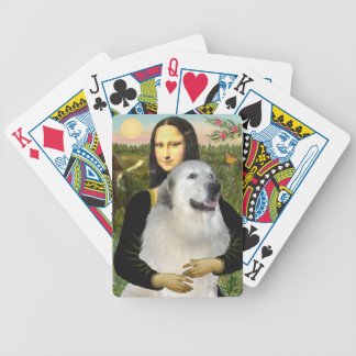 Mona Lisa and her Great Pyrenees Bicycle Playing Cards