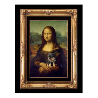 Mona Lisa and Her Rottweiler Postcard