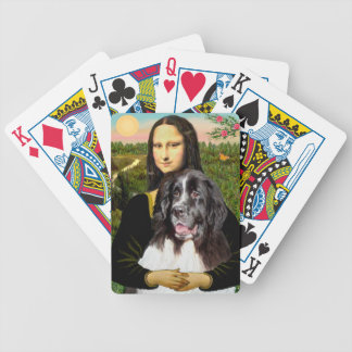 Mona Lisa and Newfoundland Landseer Bicycle Playing Cards