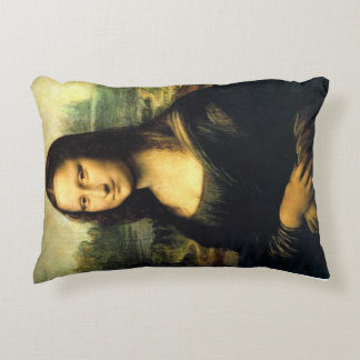 Mona Lisa art cushion by Da Vinci