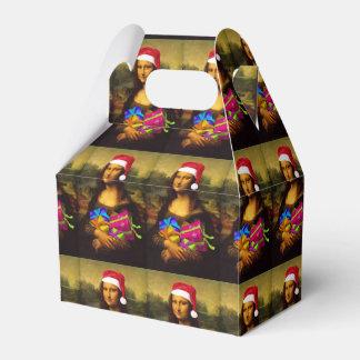 Mona Lisa At Christmas Favor Box