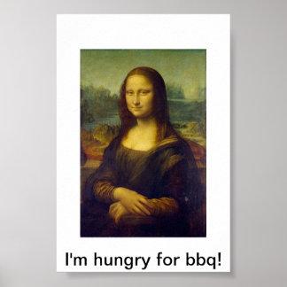 Mona Lisa Bbq Poster