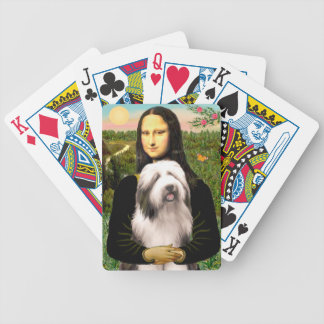 Mona Lisa & Bearded Collie Bicycle Playing Cards