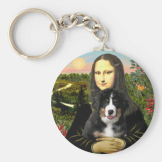 Mona Lisa - Bernese Mt Dog Puppy Keychain