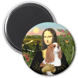 Mona Lisa - Blenheim Cavalier (F) 2 Inch Round Magnet