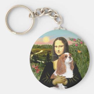 Mona Lisa - Blenheim Cavalier (F) Basic Round Button Keychain