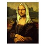 Mona Lisa blonde Carte Postale