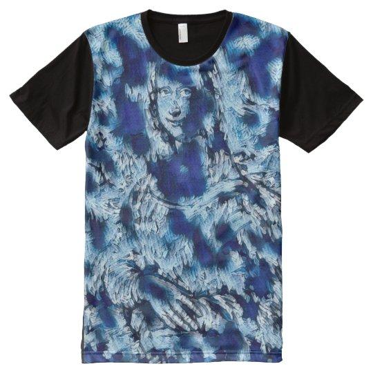 Mona Lisa Blue Abstract