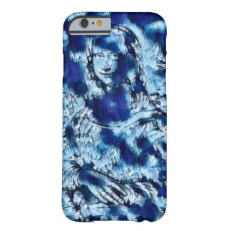 Mona Lisa Blue Abstract Portrait Barely There iPhone 6 Case