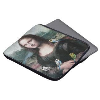 Mona Lisa & Budgies Laptop Sleeve