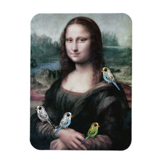 Mona Lisa & Budgies Magnet