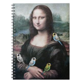 Mona Lisa & Budgies Notebooks